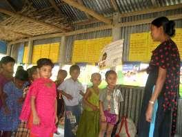 Kindergarten in einem von Grameen-Shikka geförderten Dorf