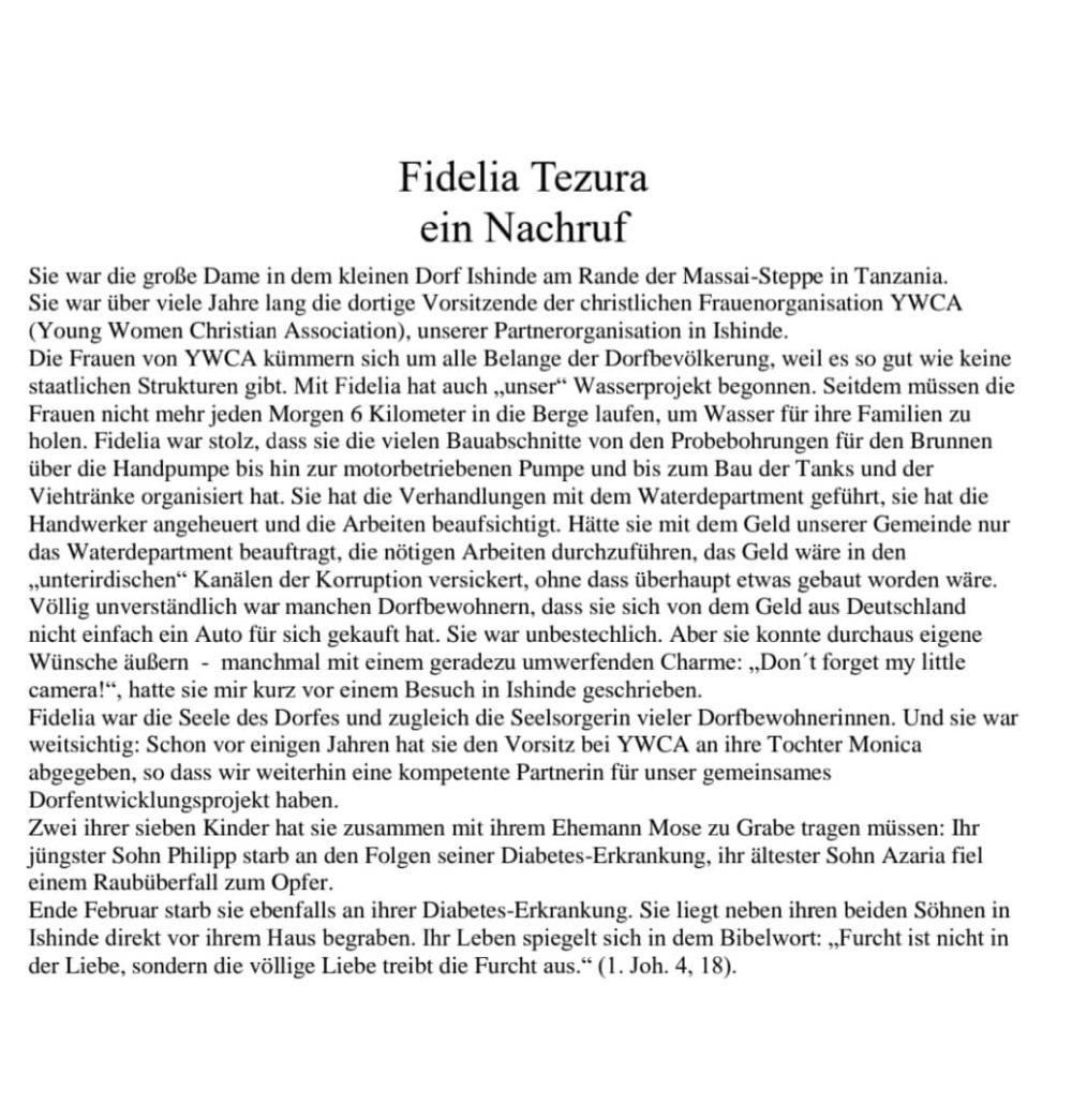 Nachruf Fedelia 10. Todestag (2)